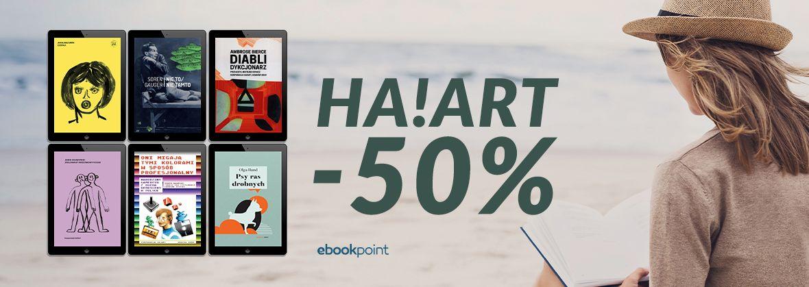 Promocja na ebooki Ha!Art [-50%]
